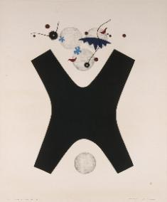 吉田政次《青春の輝き 2》 1969(昭和44)/木版、紙