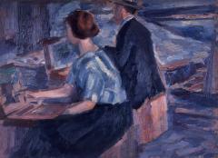 保田龍門《教室》1920〜1923