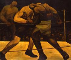 石垣栄太郎《拳闘》1925