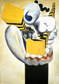 《たわむれ》1956 油彩、板