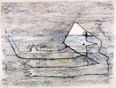 《潜水》1957 石版、紙