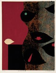 11. 嘉部弘《狂想曲第3番》1970年、孔版・紙 当館蔵