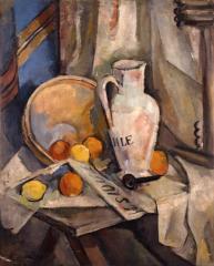 1 水差しのある静物 1925(大正14) 油彩、キャンバス