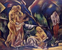 5 花 1932(昭和7) 油彩、キャンバス