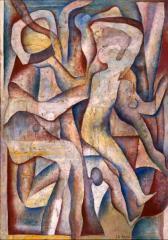 8 集団 1956(昭和31) 油彩、キャンバス