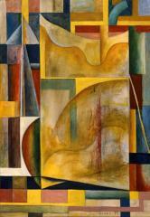 9 港 1957(昭和32) 油彩、キャンバス