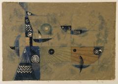 5. 若山八十氏《風》1975年、孔版・紙 当館蔵