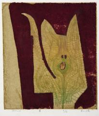 4. 若山八十氏《萌》1977年、孔版・紙 当館蔵