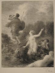 アンリ・ファンタン=ラトゥール《神々の黄昏:ジークフリートとラインの乙女》 1898年