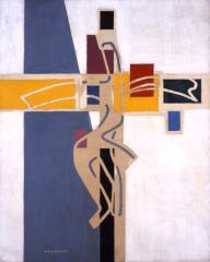 村井 正誠《クリジフィ》1947(昭和22)頃 油彩、キャンバス