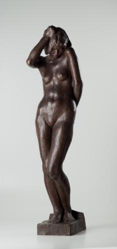 建畠大夢《感に打たれた女》1932年 ブロンズ