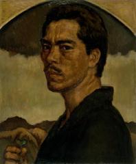 保田 龍門《自画像》1915(大正4) 油彩、キャンバス
