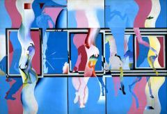 宇佐美 圭司《水族館の中の水族館 No.2》1967(昭和42)油彩、キャンバス / 185.2×276.0cm