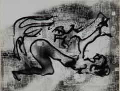 《犬と女》 1950(昭和25) ゼラチン・シルバー・プリント