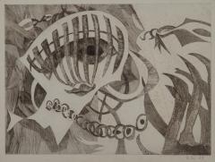 《顔B》 1953(昭和28) エッチング、紙