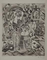 《母》 1953(昭和28) エッチング、紙