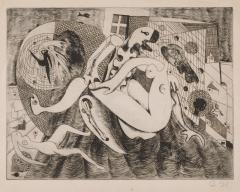 《人魚の恋》 1953(昭和28) エッチング、紙