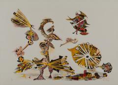 《鳥の芝居》 1956(昭和31) リトグラフ、紙