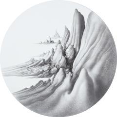 妻木良三 《境景 Ⅱ》 2009-2011 鉛筆・アクリル・ジェッソ、板