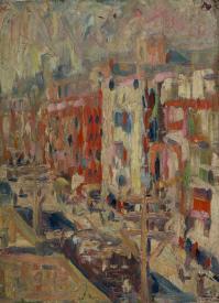 香山小鳥《風景》 1911年 油彩、板