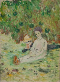 1. 田中恭吉 《初夏》1912年 油彩、キャンバス