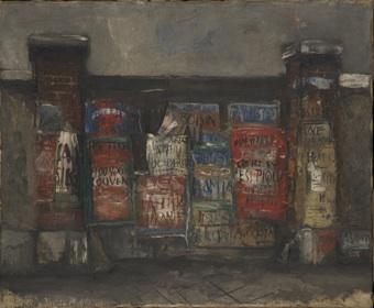 2. 佐伯祐三《広告のある門》 1925年 油彩、キャンバス