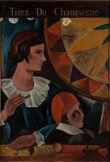 3. 川口軌外《ボヘミアン》 1928年 油彩、キャンバス