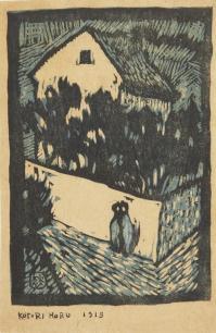 香山小鳥《愁》 1913年 木版、紙
