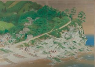 5. 梥本一洋《岬》  1938年 顔料、絹