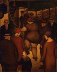 二階つきバス 1926(大正15)油彩、キャンバス 東京国立近代美術館蔵