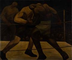 拳闘 1925(大正14)年 油彩、キャンバス 和歌山県立近代美術館蔵