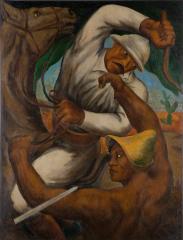 キューバ島の反乱 1933(昭和8) 油彩、キャンバス 和歌山県立近代美術館蔵