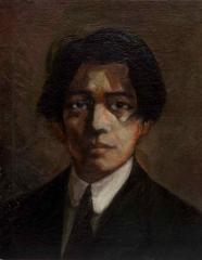 自画像 1917(大正6) 油彩、キャンバス 和歌山県立近代美術館蔵