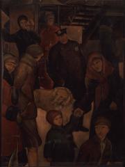 街 1925(大正14) 油彩、キャンバス 神奈川県立近代美術館蔵