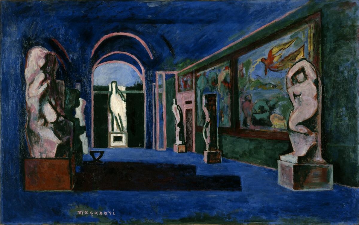 村井正誠 (1905-1999)《アカデミヤ・ベル・アルチ》1934(昭和9) / 油彩、キャンバス