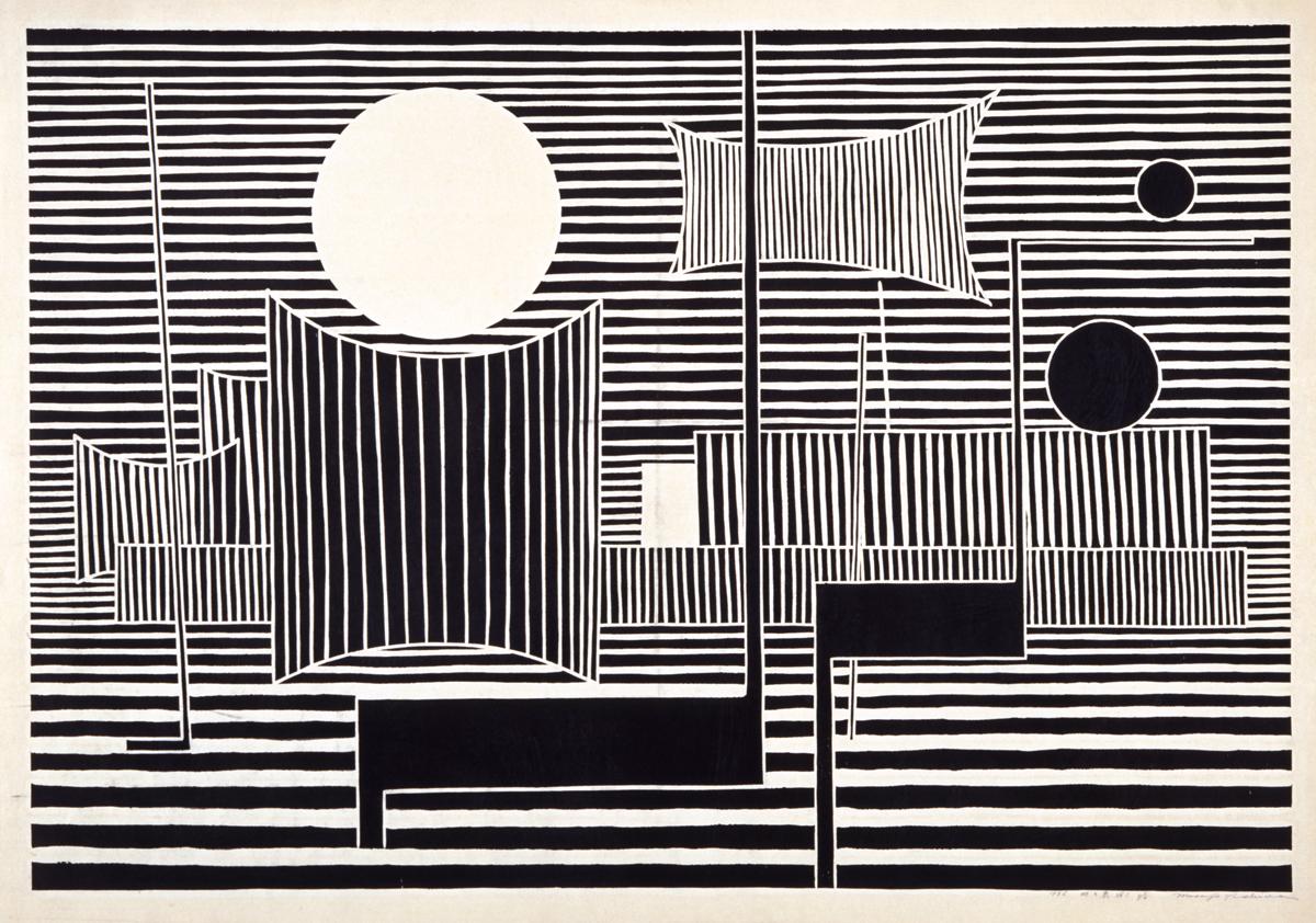 吉田 政次 (1917-1971)《地の泉 No.1》1956(昭和31) / 木版、紙