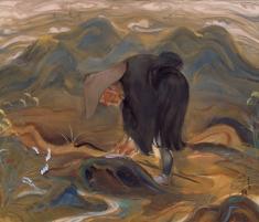 川端龍子《芭蕉翁》1923(大正12)