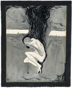 田中恭吉《冬の夕》1914年 インク・鉛筆、紙  水と緑と詩のまち前橋文学館