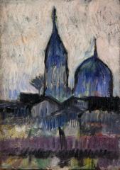 田中 恭吉《ニコライ》 1912(明治45/大正元)   油彩、板