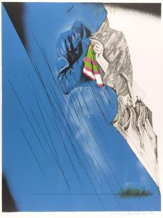 吉原英雄《版画集『公園』5雨の日》1974