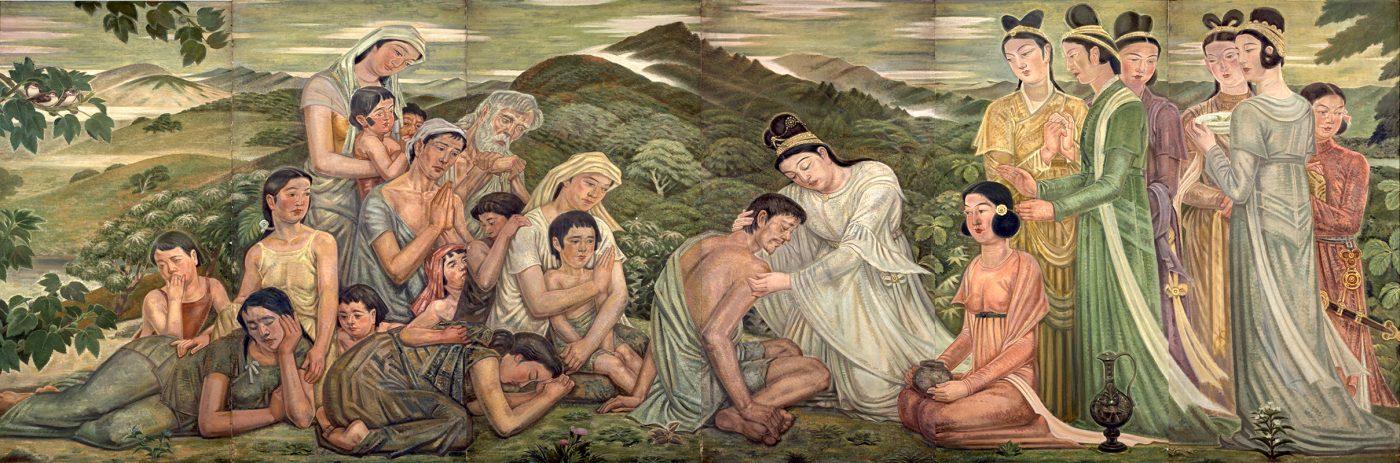 保田龍門《光明皇后賜療》1936年 油彩、キャンバス