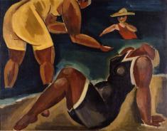 古賀春江《海水浴》1922年