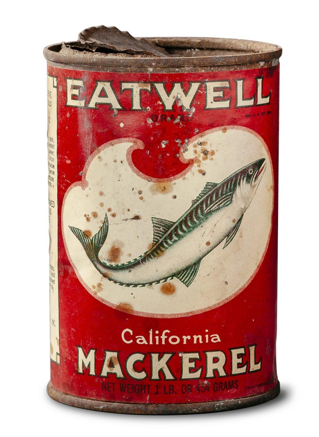 ツナ缶「イートウェル・カリフォルニア・マカレル」太地町歴史資料室蔵