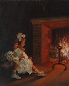 浜地清松 《暖炉》1911