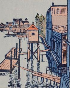 逸見享『水韻譜』より 1942 木版、冊子体