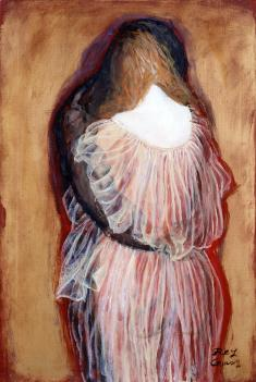 鴨居玲《LOVE》1980頃 油彩、キャンバス