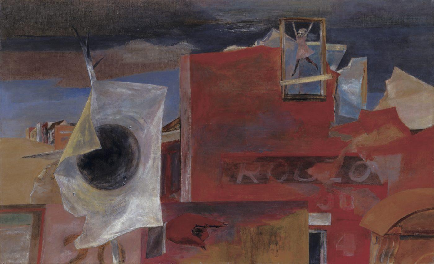 国吉康雄《ここは私の遊び場》1947年 油彩、キャンバス 福武コレクション