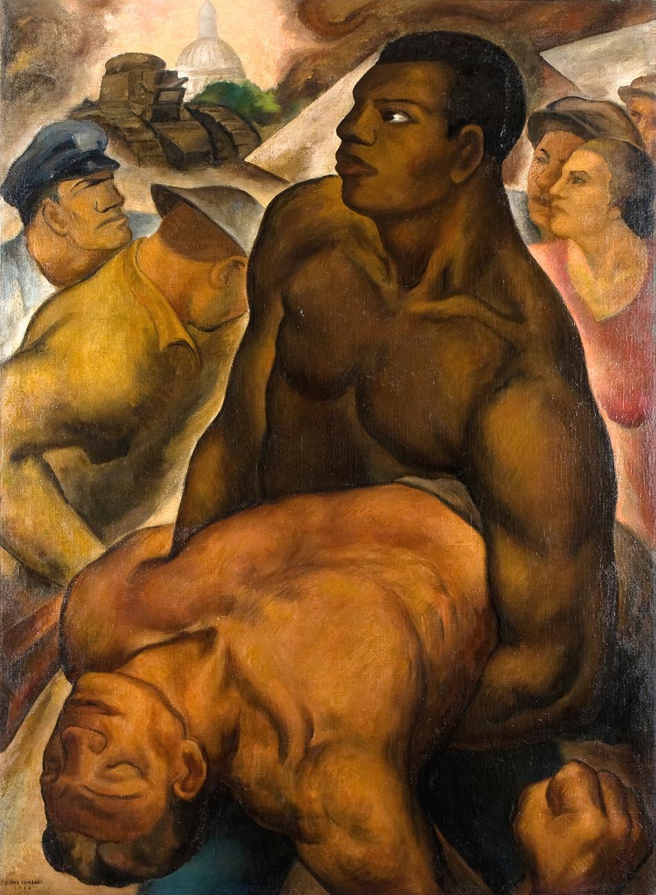 石垣栄太郎《ボーナス・マーチ》1932年 和歌山県立近代美術館蔵