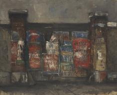 佐伯祐三《広告のある門》1925年 油彩、キャンバス