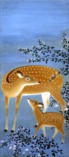 小茂田青樹《母子鹿》1928年 滋賀県立近代美術館蔵